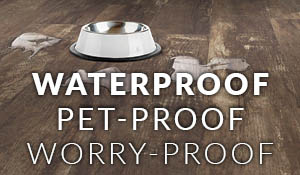 Abbey Carpet Gallery has the perfect flooring for your family - waterproof, kid proof, pet proof - stop by and see our selection!