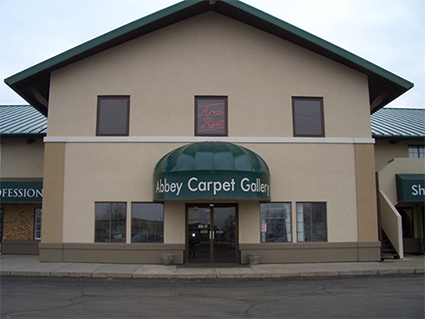 The showroom of Abbey Carpet Gallery in Davenport, IA