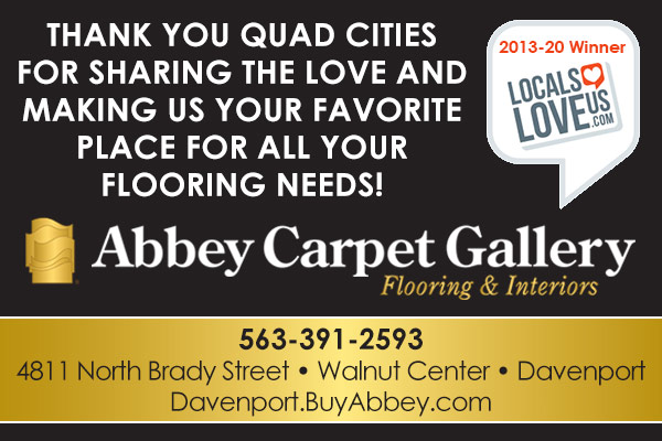 Thank you Quad Cities for sharing the love and making us your favorite place for all your flooring needs!